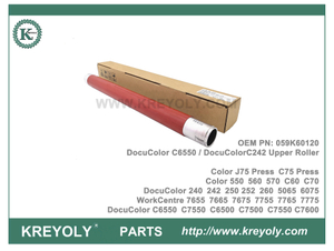 059K60120 Rodillo de fusor DocuColor C5065 C6550 C7550 C6500 C7500 Rodillo superior de fusor C75 WorkCentre 7655 7665 7675