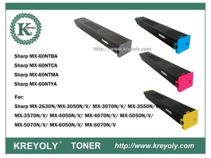 Tóner de color MX-60 para Sharp MX-M2630 / 3050/3070/3550/2570/4550/5050/5070/6050 / 6070N